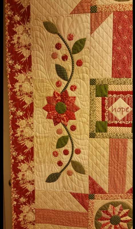 Freehand feathers,  customer quilt.
