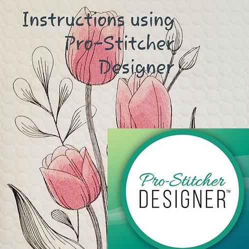 Embroidery on the Longarm  Full Instructions using Pro Stitcher Designer