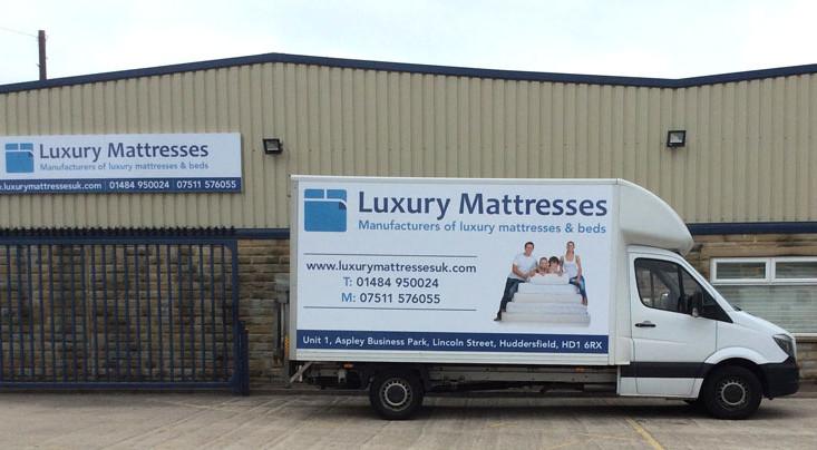 Luxury Mattresses Signage  & Vehicle Graphics
