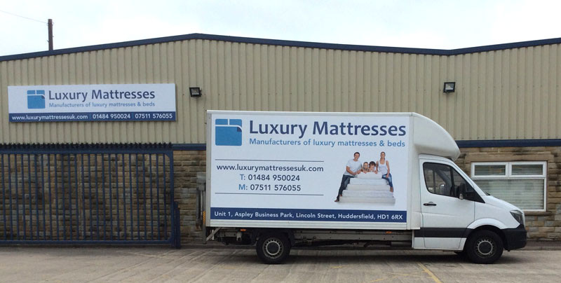 Signage and vehicle graphics for Luxury Mattresses