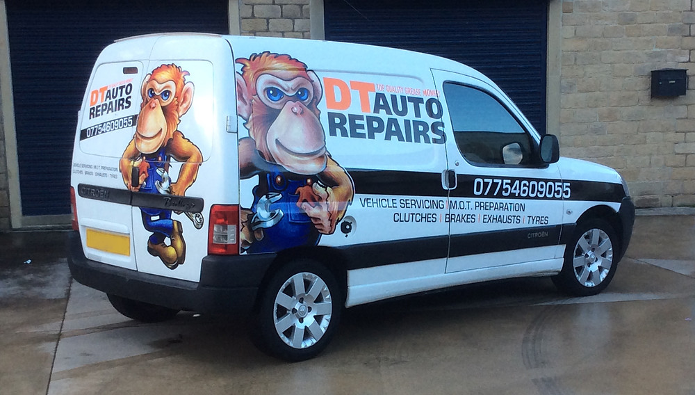 DT Auto Repairs Van Graphics
