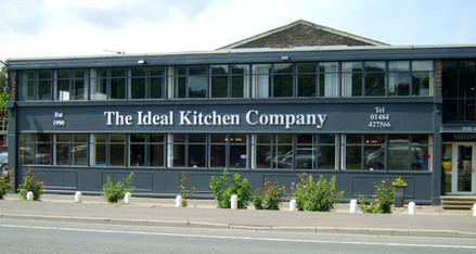 Ideal Kitchen Company: Raised stainless steel effect lettering made from aluminium composite
