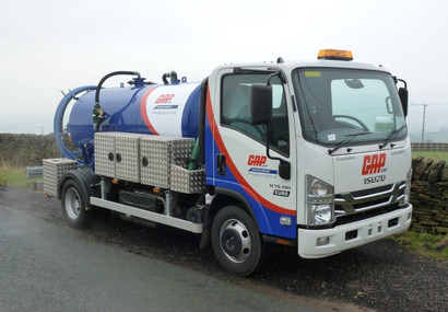 High performance vinyl graphics fitted to cab and tank.