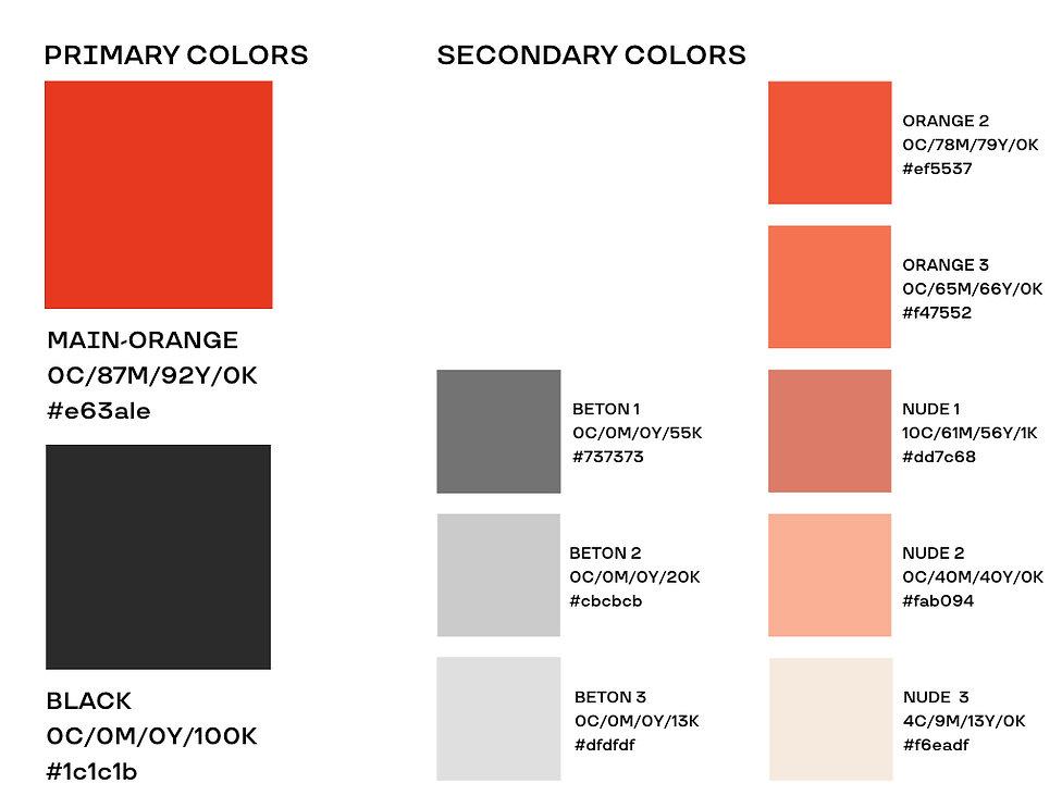Munichgym Range of colors