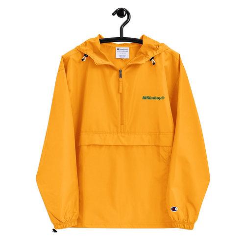 lilfilmboy® embroidered halfzip hooded jacket.