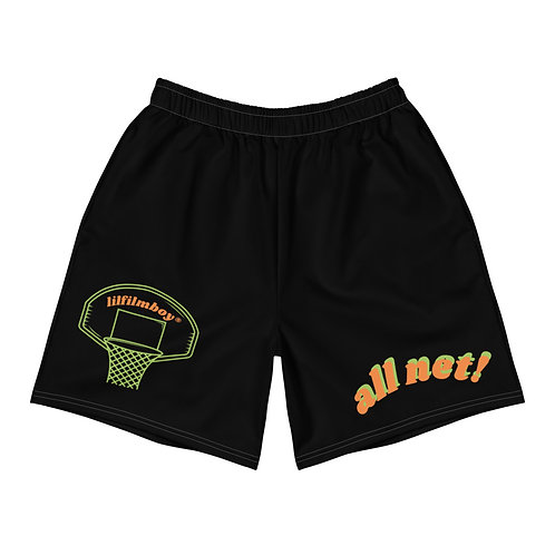"""all net"" basketball shorts by lilfilmboy®"