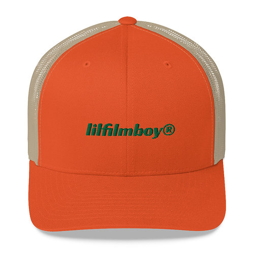 lilfilmboy® embroidered trucker hat.