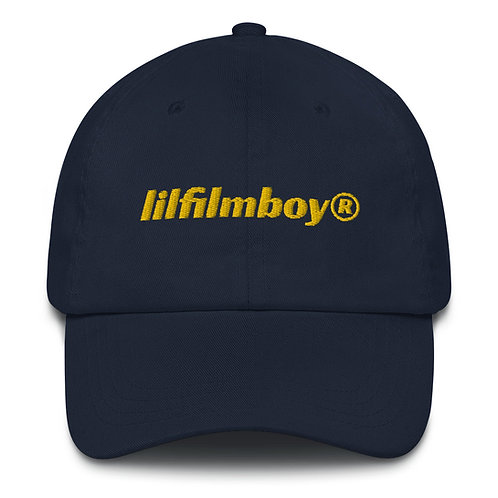 lilfilmboy® embroidered dad hat.