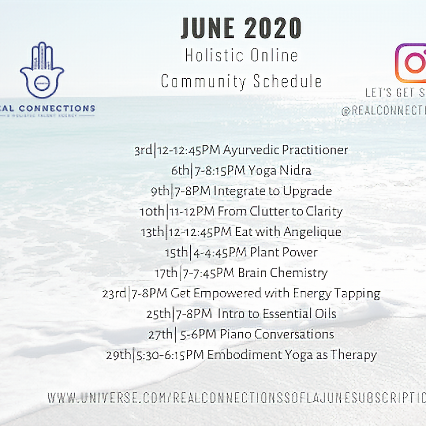 Real Connections SoFla Holistic Community June Subscription