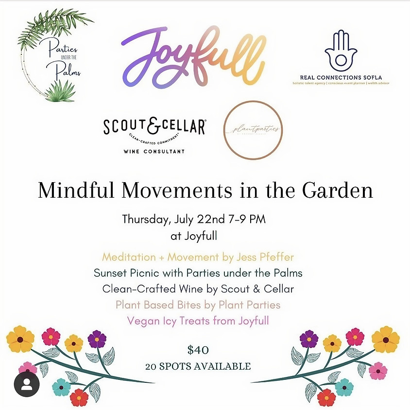 Mindful Movements in the Garden with Parties under the Palms