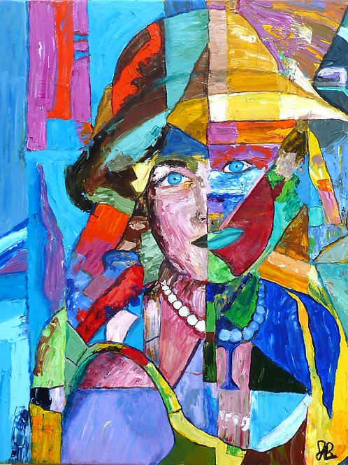 """""""Lady with Blue Eyes""""  Limited Edition, Signed, 11x14 Print. FREE Shipping"""
