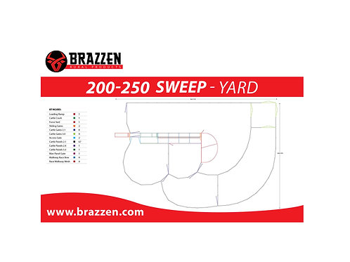 Cattle 200-250 Sweep Yard