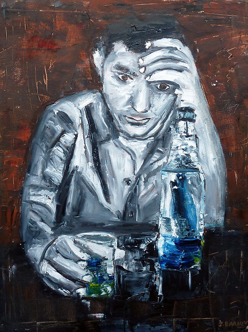 """""""Man at the Bar""""  Limited Edition, Signed, 11x14 Print. FREE Shipping"""