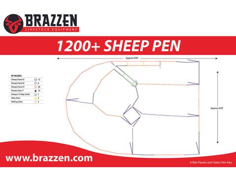 BRAZZEN 1200+ SHEEP YARD