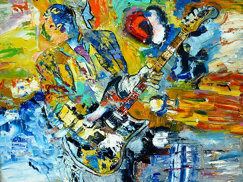 """The Guitarist""  Limited Edition, Signed, 11x14 Print. FREE Shipping"