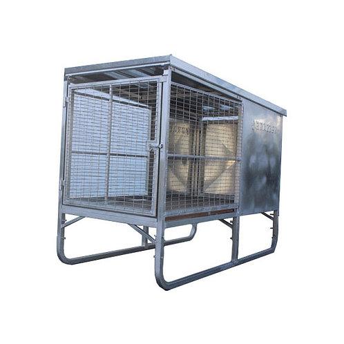 Dog Cage Single Raised