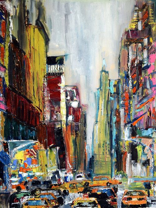 """City 4, New York""""  Limited Edition, Signed, 11x14 Print. FREE Ship"""