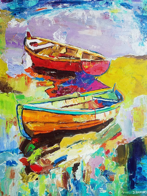 """Rowboats""  Limited Edition, Signed, 11x14 Print. FREE Shipping"