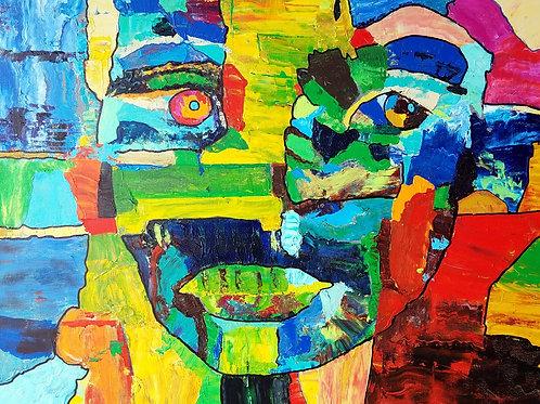 """Yin Yang (Mystery 13),"" acrylic/canvas, 24 x 30 inches"