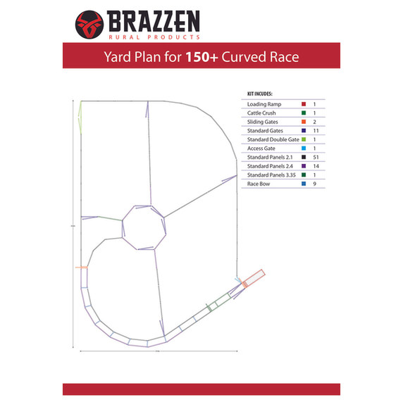 Brazzen 150 Curved Race
