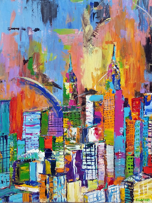 """""""Cityscape 4""""  Limited Edition, Signed, 11x14 Print. FREE Shippi"""