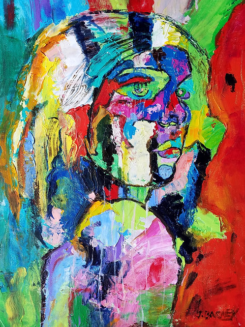 """Contemplation 8,"" acrylic/canvas sheet,12x16"