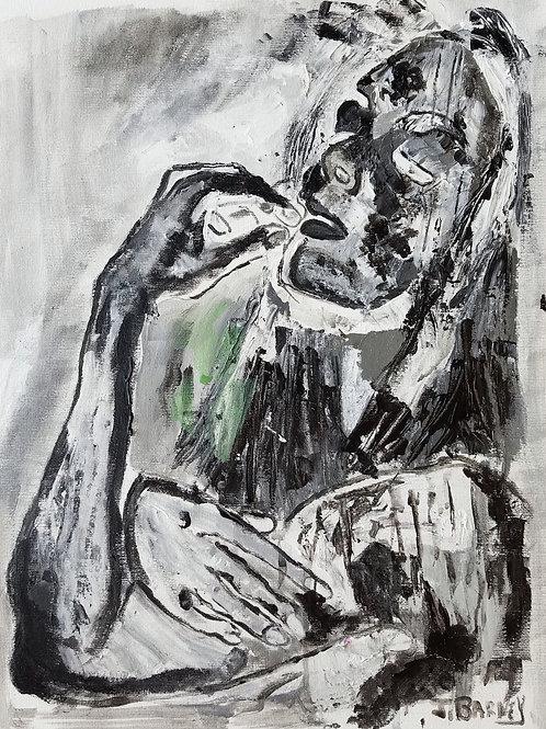 """Darkness Descending,"" acrylic/canvas sheet,12x16"