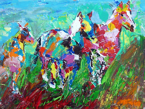 """Wild Horses Two""""  Limited Edition, Signed, 11x14 Print. FREE Shipping"""