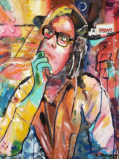 Dreamcatcher...20x24, oil/acrylic