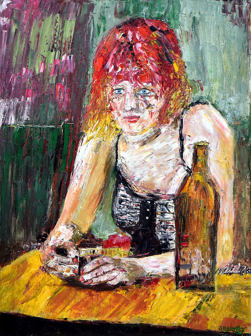 """""""Woman at the Bar"""" Limited Edition, Signed,11x14 Print. FREE SHIPPING!"""