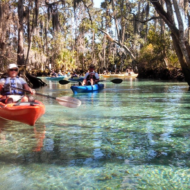 Perfect day in the Florida Springs._Follow me and the cone paddle with us