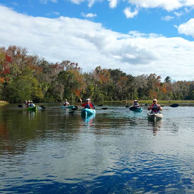 Camping club kayak tour on the Rainbow