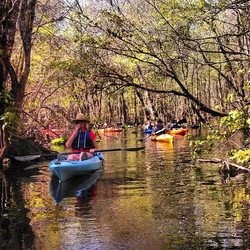 Kayaking on Gum Slough Creek
