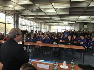 Barbagallo a Pomigliano all'assemblea di base con i lavoratori di Leonardo in preparazione del C