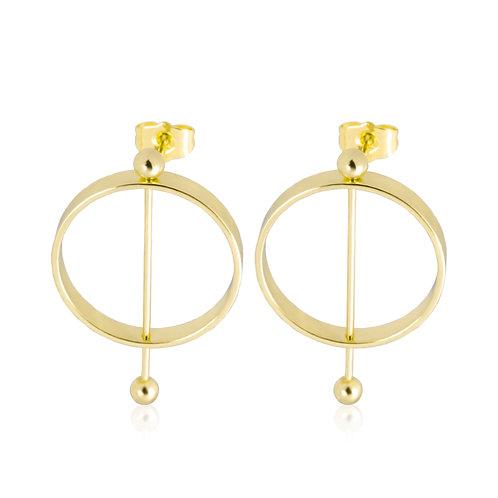 Aretes Baño de Oro 18K HP750918176-30