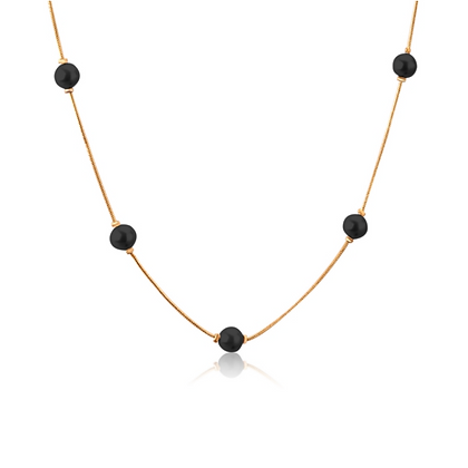 Collar Acero Inoxidable + Oro 18K NE906402G-45