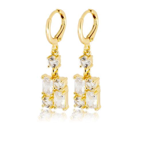 Aretes Baño de Oro 18K ES260115544