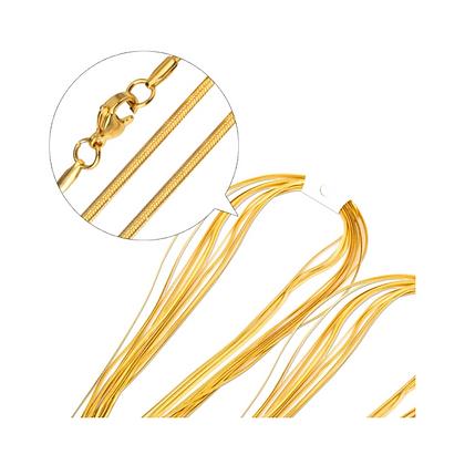 Cadena Acero Inoxidable + Oro 18K