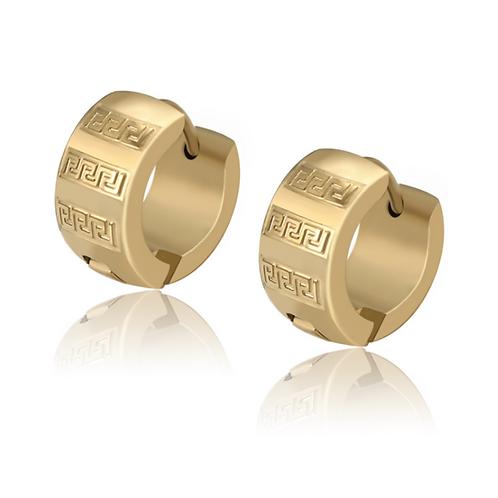 Huggies Acero Inoxidable + Oro 14K 575404