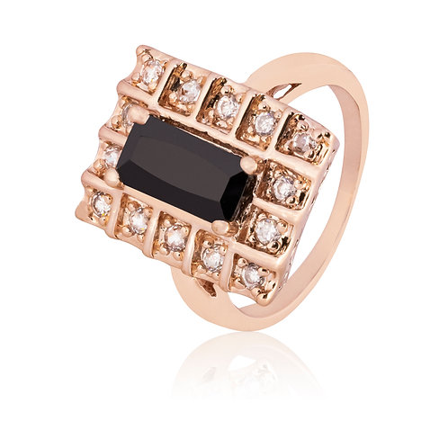 Anillo Baño de Oro Rosa 83060005-65