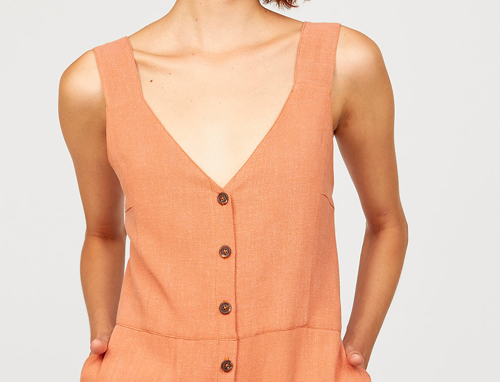 Buttoned dress with pokets