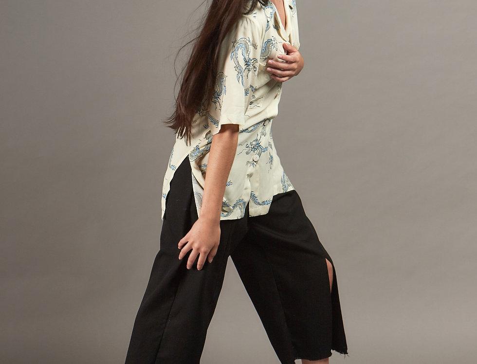 Oversize printed shirt