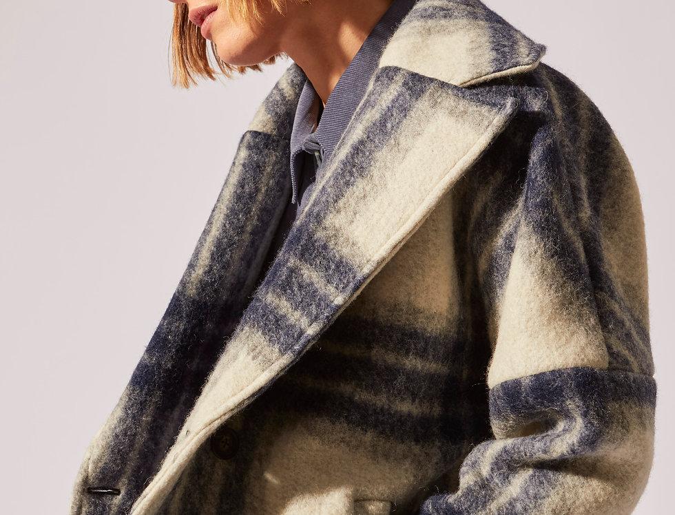 Wool mix Oversize short coat
