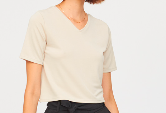 Silvia Essential crop shirt