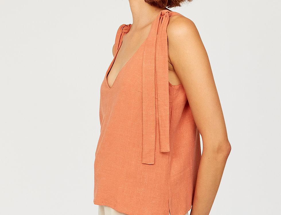 Top with tie shoulder knot