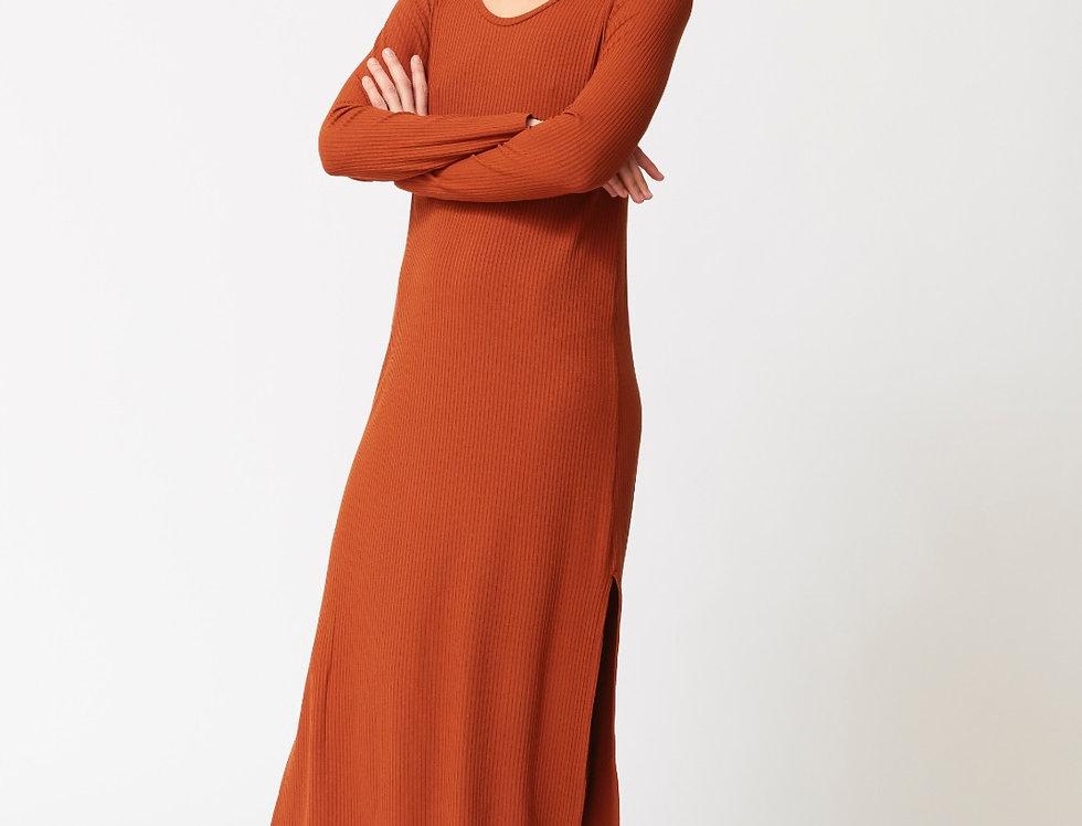 Johanna Ribbed long dress