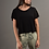 Thumbnail: Ribbed cropped oversize T-shirt