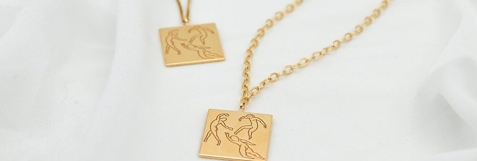 Dance square neckalce