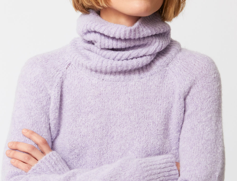 Turtle neck long jersey