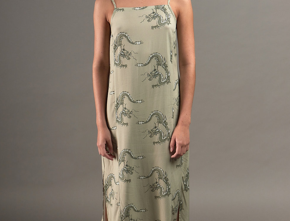 Dragons long cuts dress